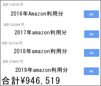 アマゾン累計金額